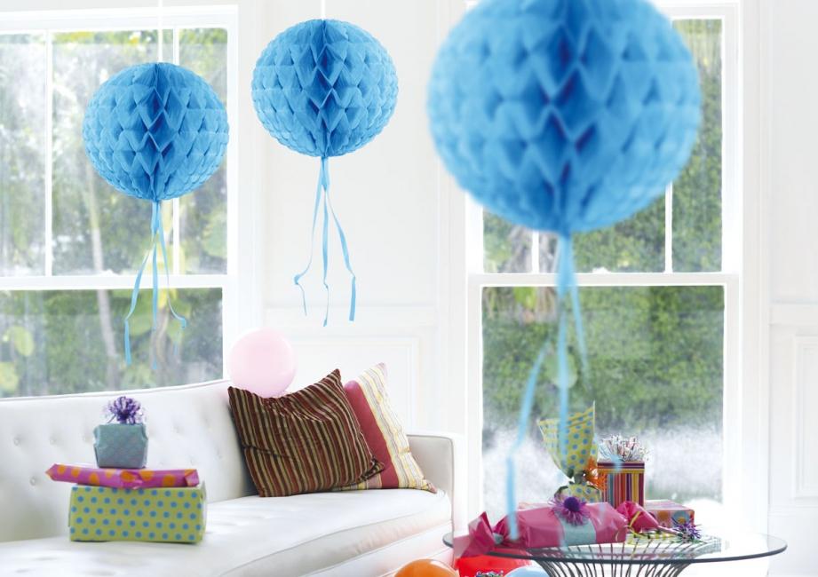Decoratie bol baby lichtblauwe versiering knuffels shop.nl